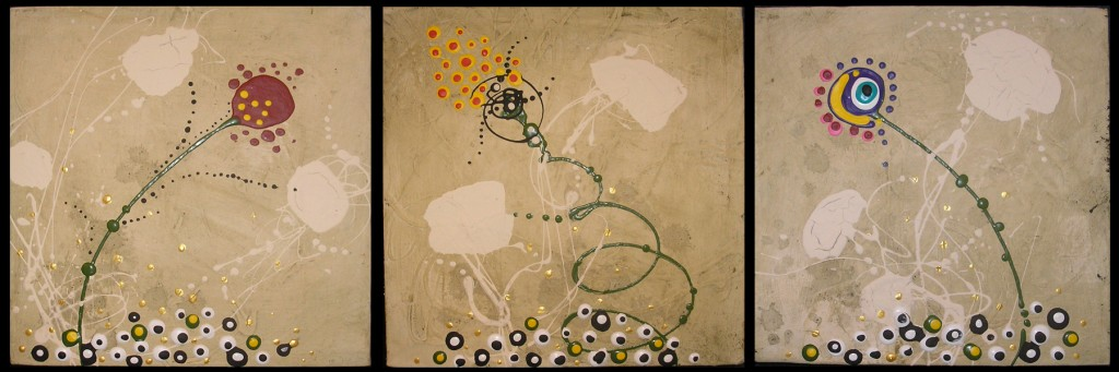 Karrie Ross: Three Flowers see more at the Topanga Canyon Gallery Show Oct. 3-28