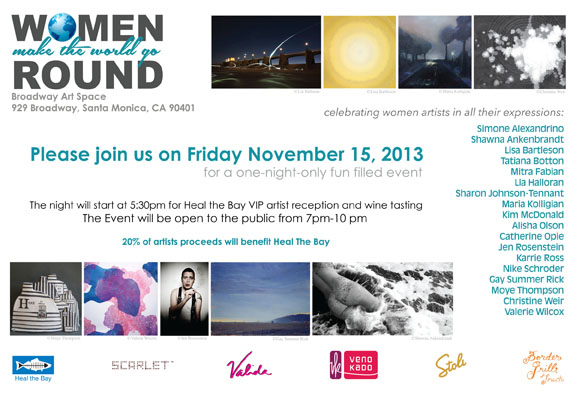 Women Make the World Go Round; Nov. 15th; 7 to 10pm