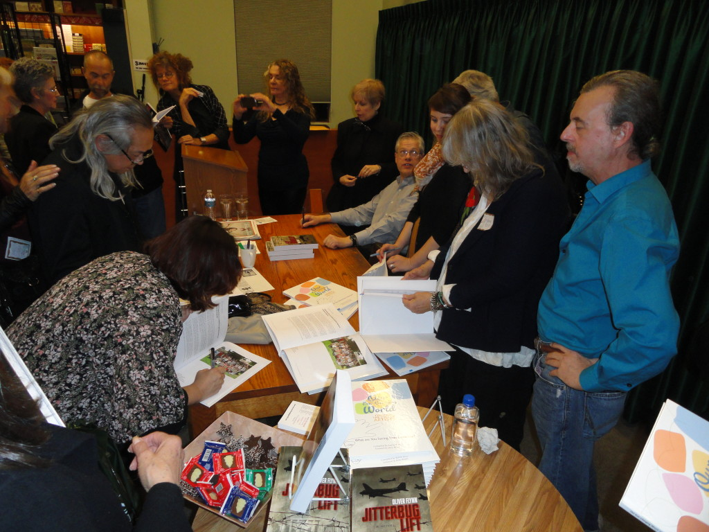 Signing the books