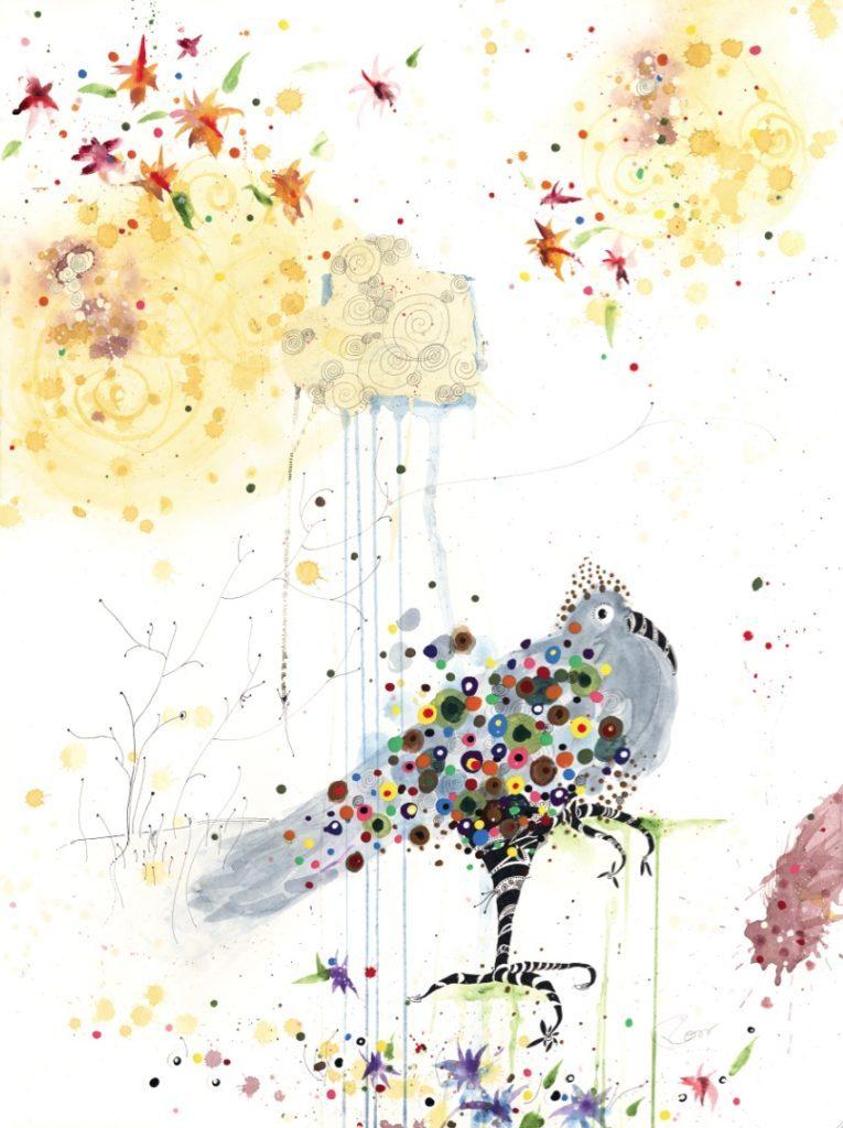 asthecloudweepsbejeweledbird-765x1024